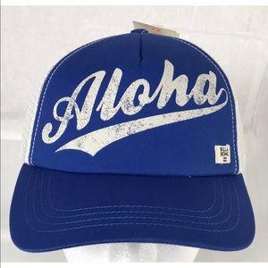 BillaBong Aloha Forever Blue SnapBack Trucker Hat